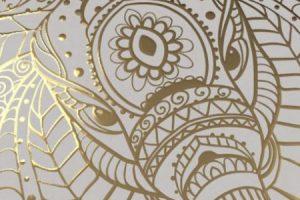 Actega metal print gold tactile effect